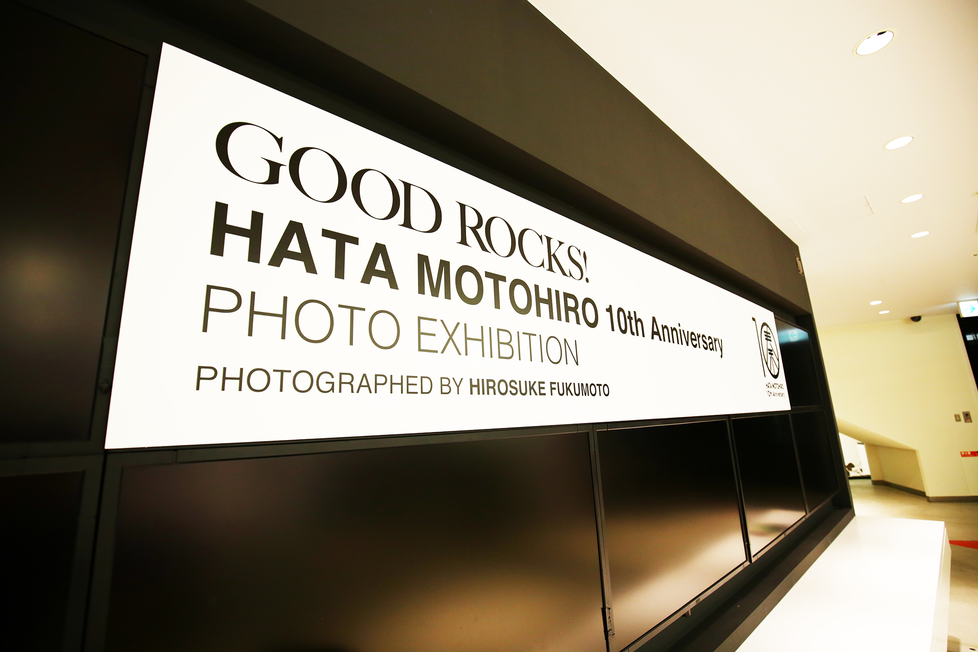 【大阪】GOOD ROCKS! HATA MOTOHIRO 10th Anniversary PHOTO EXHIBITION  PHOTOGRAPHED BY HIROSUKE FUKUMOTO IN OSAKA